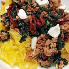 Spaghetti Squash With Sausage, Kale, And Sun-dried Tomatoes Recipe ...
