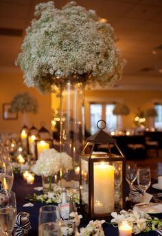 I love the candle lanterns - adds a nice twist on pillar candles
