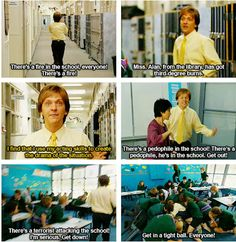 High school can be tough, so let Chris Lilley help you out. Summer Heights High, Chris Lilley, High School Memes, Drama Teacher, Tv Show Quotes, School Daze, About Time Movie, Comedians, Movies And Tv Shows