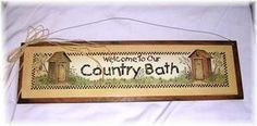 Welcome to Our Country Bath Wooden Bathroom Wall Art Sign Outhouse Decor The Little Store Of Home Decor http://www.amazon.com/dp/B005R5OD9M/ref=cm_sw_r_pi_dp_67KLtb0BSZS20V3W