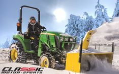 Clearing Snow Just Got Easier with the John Deere and Front-Mount Snowblower John Deere Compact Tractors, John Deere Tractors, Classic Motors, Monster Trucks, Zero, Dads, Snow, Fathers, Eyes