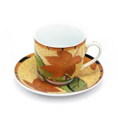 Interior Place - Gold Yellow Maple Leaf Cobalt Porcelain Tea Cup and Saucer (Gift Set of 6), 43.71 CAD (http://www.interiorplace.com/gold-yellow-maple-leaf-cobalt-porcelain-tea-cup-and-saucer-gift-set-of-6/)