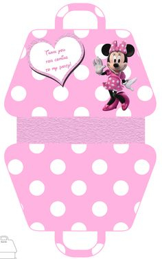 Minnie Mouse Party Favor Gift Bag - FREE PDF Download