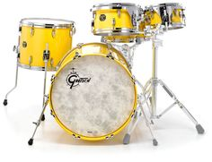 Gretsch USA Custom, Version Fusion, Colour Solid Yellow #gretsch #drums #thomann