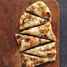 Keep the heat outdoors with this grilled pizza topped with sweet fennel and onions. No grill? No problem. Cook this dough in a cast-iron skillet over high heat, or on a preheated sheet pan or pizza stone in a 500-degree oven.