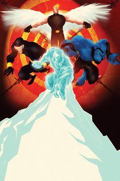 Iceman, Beast, Cyclops and Angel