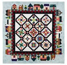 Downtown block of the month quilt by Deb Luttrell and Carol Doak - paper pieced
