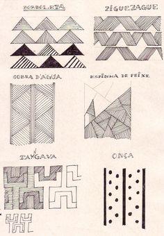 Estudo dos desenhos indígenas