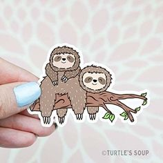 cartoon style sloths