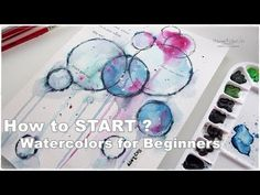 How to Start? Watercolors Abstract for Beginners ♡ Maremi's Small Art ♡ - YouTube