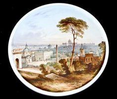 Davenport plaque c.1840 Rome landscape scene, coalport royal worcester Era