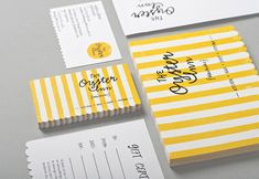 'The Oyster Inn' branding. The scalloped edge on the business card is such a nice touch!