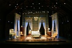 Cat on a Hot Tin Roof. Scenic design by Lee Savage. Chautauqua Theatre.