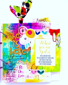 New blog post.  He is Here. Using some of the Citrus Twist Kits Grace Box contents! On the blog bonitarose.com #ctkgracebox #citrustwistkits @citrustwistkits #faithart #faithjournaling #artjournaling #artjournal #biblejournaling #biblejournalingcommunity #illustratedfaith #journalingbiblecommunity #journalingbible #myfaith #liveinspired #livecreatively #mixedmedia by bonitarosek