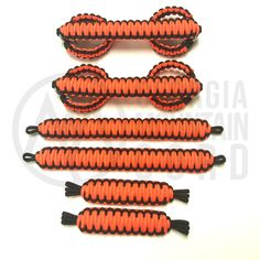 Jeep Wrangler TJ/LJ Deluxe Paracord Set in Neon Orange