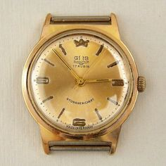 Vintage GUB Glashutte Gold Plated CAL 701 Germany Mechanical Watch 1960s