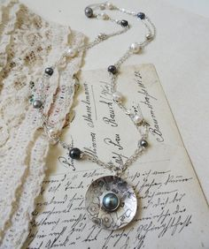 silver pearl necklace - Joey Rose Jewellery - Nice