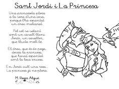 "Poema ""Sant Jordi i La Princessa"" - M. Twenty One Pilots, Rey, Activities For Kids, Learning, Children, Funny Yoga, Teaching Resources, Reading Comprehension, Daughters"