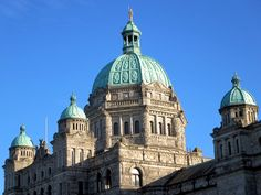 The neo-Baroque Parliament Building in Victoria, British Columbia, Canada, was erected in The gold-covered statue atop the central dome is of Captain George Vancouver. Vital Records, Ancestry, British Columbia, Genealogy, Taj Mahal, Irish, Victoria British, Canada, Ireland