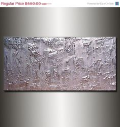 Original Textured Modern Large Abstract by newwaveartgallery, $330.00