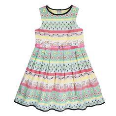 Girls Sweetshop Print Cotton Sleeveless Dress