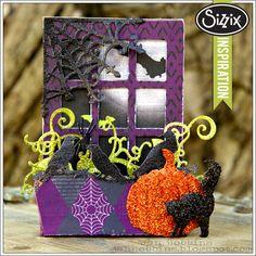 Sizzix Die Cutting Inspiration | Trick or Treat Window Box by Jan Hobbins