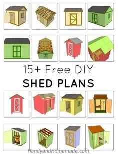 15  Free DIY Wood Shed Plans