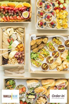 Count on Vanilla Blue for delicious North Sydney office catering that makes a great impression and satisfies the taste buds. Catering Platters, Catering Buffet, Food Platters, Food Dishes, Office Catering, Lunch Catering, Charcuterie Recipes, Snack Boxes Healthy, Breakfast Catering