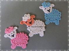 Schaf (freie Farbwahl) Sheep (free color choice) The post Sheep (free color choice) appeared first on Deco. Crochet Applique Patterns Free, Crochet Flower Patterns, Crochet Motif, Crochet Designs, Crochet Flowers, Knitting Patterns, Crochet Sheep, Easter Crochet, Cute Crochet
