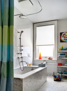 Marble tiles in bathroom - A Curmudgeon's Home Remade - Slide Show - NYTimes.com