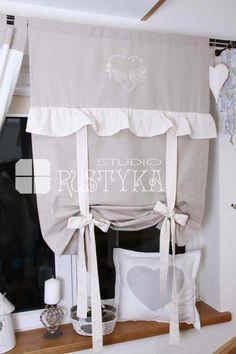Atrakcyjna bawełniana roletka Shabby Chic :: Rustyka.pl #Shabbychickitchen Ruffle Curtains, Ikea Curtains, Drop Cloth Curtains, Boho Curtains, Hanging Curtains, Shabby Chic Stoff, Shabby Chic Fabric, Shabby Chic Homes, Shabby Chic Decor