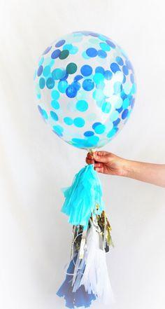 Items similar to Blue Confetti Balloon Jumbo Confetti Larger Birthday Party Decoration on Etsy Naming Ceremony Decoration, Ceremony Decorations, Balloon Decorations, Baby Shower Decorations, Giant Balloons, Confetti Balloons, Foil Balloons, 26th Birthday, 1st Birthday Parties