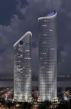 Zhejiang Fortune Finance Center, Hangzhou, China by John Portman  Associates :: 52 floors, height 258m #architecture ☮k☮