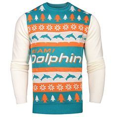 NFL Miami Dolphins Light-Up One Too Many Ugly Sweater, X-Large  http://allstarsportsfan.com/product/nfl-miami-dolphins-light-up-one-too-many-ugly-sweater-x-large/  100% Acrylic Features color-changing lights above and below your team's wordmark! 2 CR2 Batteries Included!