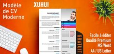 This resume template offers a stylish design, hard to get in a Word format. The vibrant colors -while subtly used- and the modern design will make your resume stand out. Modern Resume Template, Resume Template Free, Creative Resume Templates, Free Resume, Column Structure, Cv Curriculum Vitae, Hard To Get, Design Moderne, Chemistry