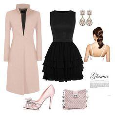 """""""Un Outfit en color negro para lucir preciosa en una fiesta"""" by mama-superstar on Polyvore featuring moda, Miu Miu y Hershesons"""