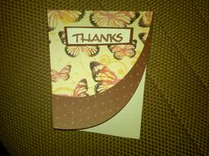 Cricut Wild Card Thank You