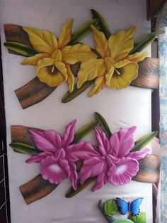 Polymer Clay Flowers, Polymer Clay Art, Clay Wall Art, Canvas Wall Art, Clay Crafts, Diy And Crafts, Modern Pop Art, Intarsia Woodworking, Acrylic Painting Techniques