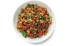 Transform ground turkey into a family-pleasing meal with white rice, snow peas, carrots, garlic, and ginger. Get the recipe for Turkey Fried Rice.