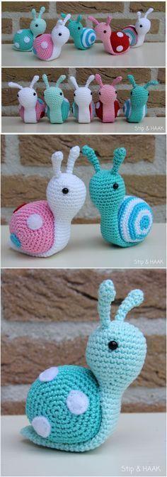 Süße kleine Häkel-Schnecken :-)
