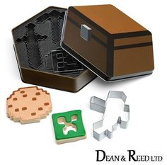 *NEW* Official Minecraft Cookie Cutters (Sword / Pickaxe / Creeper) - Think Geek