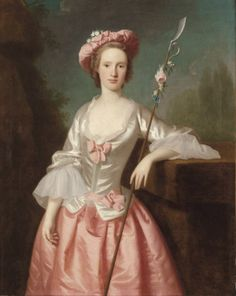 """Portrait of a Lady as a Shepherdess"" by Allan Ramsay (1740s-1750s)"