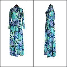 Vintage 1970s RONA of New York Floral Maxi by InPursuitVintage