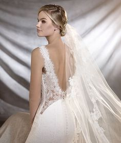 Pronovias > ORESTE - Empire line wedding dress