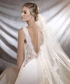 Pronovias > ORESTE - Vestido de noiva de corte império