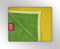 Glamour deka 150x200 cm (žltá/zelená)
