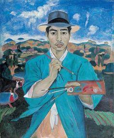 이쾌대 '푸른 두루마기를 입은 자화상' 1948
