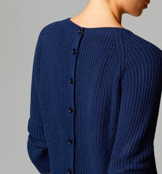 SEMI-BOAT-NECK SWEATER WITH BUTTONS - Sweaters - Sweaters & Cardigans - WOMEN - Canada