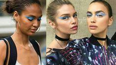 Versace fashion makeup.💙 #joansmalls #stellamaxwell #irinashayk
