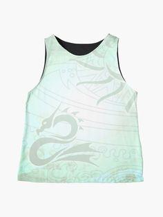 """Sea Dragon"" Sleeveless Top by AutumnLacewing | Redbubble Sea Dragon, Athletic Tank Tops, Fox, Printables, Fabric, Prints, Black, Women, Tejido"